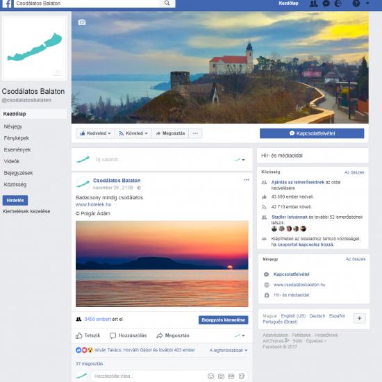 Pr Cikk Facebook Kiemelt Megjelenes Csodalatos Balaton