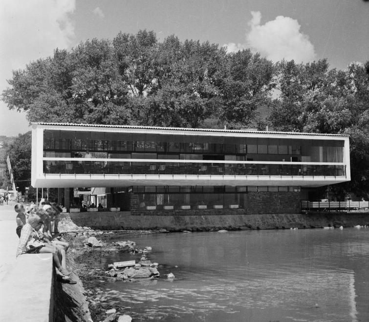 1962 Badacsony, Tátika Étterem, Hajóállomás, fotó © Bauer Sándor