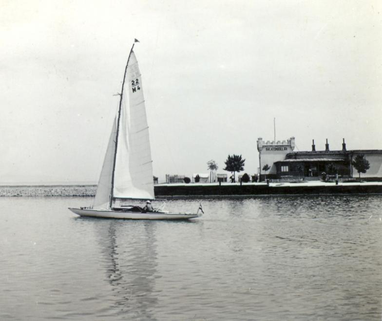 1939 Balatonboglár, Vitorláshajó, Kikötő, fotó © Klenner Aladár