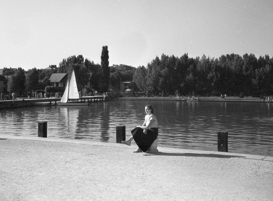 1947 Balatonfüred, Kikötő, Hajóállomás, Tagore-sétány, fotó © Romak Éva
